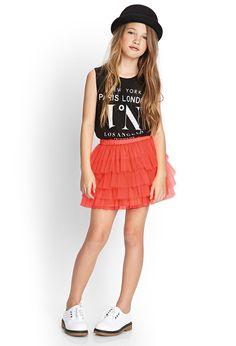 Fancy Tulle Skirt (Kids)   FOREVER21 girls - 2000066515