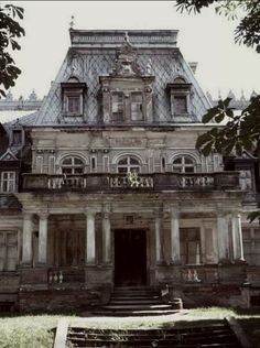 Old abandoned palace in Poland