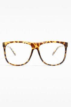 b2fb0bd40c  Windhollow  Oversized Clear Wayfarer Glasses - Tortoise. Wayfarer
