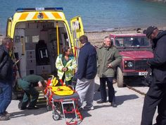 Martin Clunes filming a scene of Doc Martin S7 on location in Port Isaac -  April