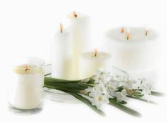 Images pour blogs et Facebook: Bougies blanches pour deuil
