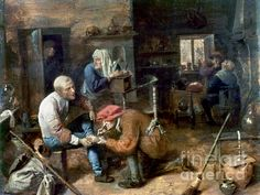 Village Barber-surgeon Photograph by Granger - Village Barber-surgeon Fine Art Prints and Posters for Sale