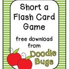 This is a quick little short a flash card game that will help your students sound out short a words.  You can also use just the cards as practice ...