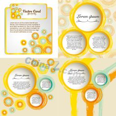 Modern circle vector background material