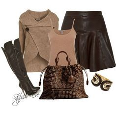 brown outfits for women   Brown Winter 2013 Outfits for Women by Stylish Eve   Winter Fall Stylo