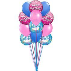 Bunch Of Lovely Happy Birthday Balloons 6 Mylar