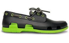 The Crocs Mens-Beach Line Boat Shoe