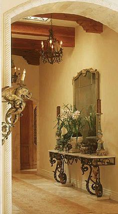 Tuscan design – Mediterranean Home Decor Tuscan Decorating, Hallway Decorating, Interior Decorating, Tuscan Style Homes, Tuscan House, Italian Home Decor, Mediterranean Home Decor, Tuscany Decor, Grand Art