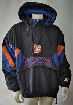 78db37c98e2 Denver Broncos Vintage Starter Jacket NFL Pro Line Pullover Parka Coat Mens  XXL Puffy Jacket