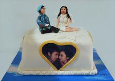 mavi demlik mutfağı- izmir butik pasta kurabiye cupcake tasarım- şeker hamurlu-kur: Selçuk Beyin Sürpriz Doğum Günü Pastası