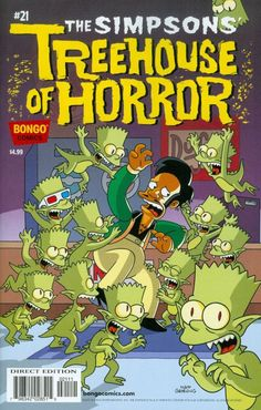 Shop for Simpsons Treehouse Of Horror from Bongo Comics - written by Ian Boothby. Comic book hits store shelves on September 2015 Simpsons Drawings, Simpsons Art, Free Comic Books, Comic Book Covers, The Simpsons Tv Show, Simpsons Halloween, Simpsons Treehouse Of Horror, Simpson Wallpaper Iphone, Rick Y Morty