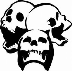 Skull on star sheriff wall art stencil,Strong,Reusable,Recyclable
