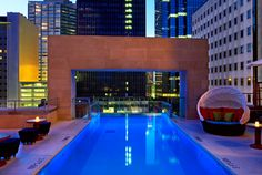 Joule - A Luxury Collection hotel. Complete with rooftop pool :)