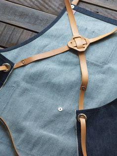 Resultado de imagen para jean aprons with leather