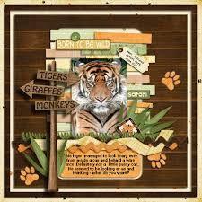 Image result for wild animals scrapbooking
