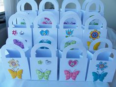 12 Butterfly and flower party favour boxes  by SparkleandComfort, $15.00