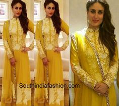 Kareena Kapoor in Manish Malhotra at Malabar jewllery launch in Abu Dhabi Nikkah Dress, Saree Dress, 2015 Fashion Trends, 2015 Trends, India Fashion, Women's Fashion, Indian Gowns Dresses, Bollywood Wedding, Salwar Designs