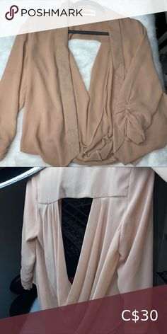 Nude blazer Worn maybe twice. crush n co Tops Woman Crush, Top Colour, Crushes, Nude, Product Description, Blazer, Best Deals, Jackets, Closet