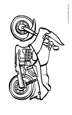 motorcycles coloring pages