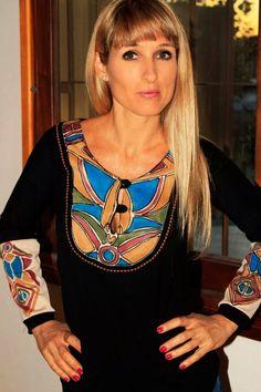 Remera pintada a mano coleccion #caro martinez#handmadeartist#boho#hippiechic