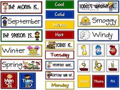💥💥💥Sailing Through Grade: Calendar Board. Tons of free printables💥💥💥 Calendar Board, Calendar Time, Daily Calendar, Calendar Ideas, Free Calendar, Calendar Numbers, Pocket Calendar, Preschool Learning, Kindergarten Classroom