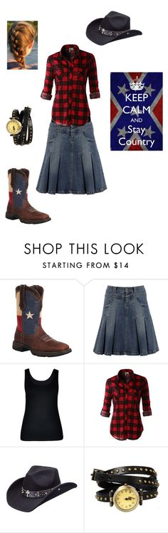 """""""Country an I Know It"""" by georgia-girl15 ❤ liked on Polyvore featuring Durango, City Chic, LE3NO, Peter Grimm and country"""