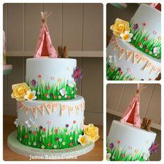 Tepee festival cake