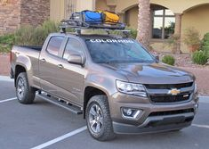 GM unveils its new truck activity products, called GearOn, at SEMA and highlights the 2015 Colorado. Small Trucks, New Trucks, Custom Trucks, Pickup Trucks, Chevrolet Colorado 2015, 2015 Chevy Colorado, Canyon Colorado, Gmc Canyon, Chevy Colorado Accessories