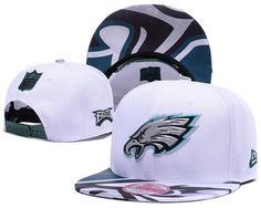 Men s Philadelphia Eagles 2017 NFL Draft Spotlight Liquid Chrome Team Logo Snapback  Hat - White   Green 23a144065