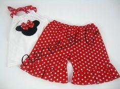 Custom Boutique Minnie Mouse Halter/Short Set 12m 18m 2T by amacim, $34.99