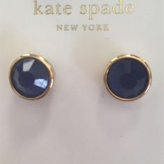 Kate spade studs NWT Kate Spade earrings. Purchased a few days ago at Nordstrom Rack for a party and have extra. Real gold studs with blue sweetheart cut center. kate spade Jewelry Earrings