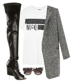 Untitled #1654 by siedahsimmons on Polyvore featuring polyvore, fashion, style, Givenchy, CÉLINE, McQ by Alexander McQueen and clothing