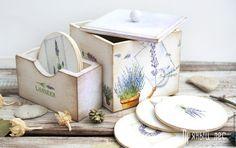 Купить Набор для кухни в стиле прованс - белый, набор для кухни, набор для кухни декупаж, Декупаж