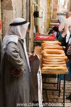 Bread cart in the old city of Jerusalem  • Dave Stamboulis