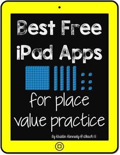 Free Place Value Apps and Activities for iPads Best FREE iPad apps for place value practice Best Free Ipad Apps, Free Math Apps, Teaching Place Values, Teaching Math, Teaching Ideas, Second Grade Math, Third Grade, Grade 2, Fourth Grade