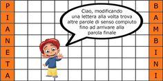 Metagrammi per bambini da stampare gratis