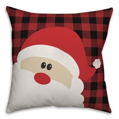 The Holiday Aisle Koester Santa Claus Throw Pillow Size: Christmas On A Budget, Christmas Mom, Christmas Sewing, Christmas Cushions, Christmas Pillow Covers, Diy Christmas Decorations Easy, Christmas Ornament Crafts, Diy Pillows, Throw Pillows