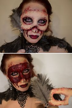 How To: 4 Super Gory Halloween Makeup Tutorials for Women That Are ...