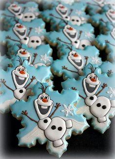 Olaf Snowflake Cookies (?)