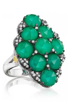 Browse Tacori Fashion rings at Merry Richards. As an authorized retailer, all of our Tacori products are backed with a manufacturer warranty. I Love Jewelry, Fine Jewelry, Jewelry Box, Jewelry Rings, Fashion Rings, Fashion Jewelry, Women's Fashion, Tacori Rings, Green Onyx