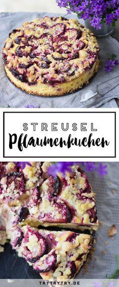 Leckeres Rezept für Streusel Pflaumenkuchen
