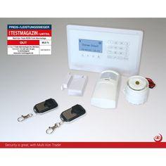M2BX GSM Funk Alarmanlage mit Touchpad Monitor und Menüführung