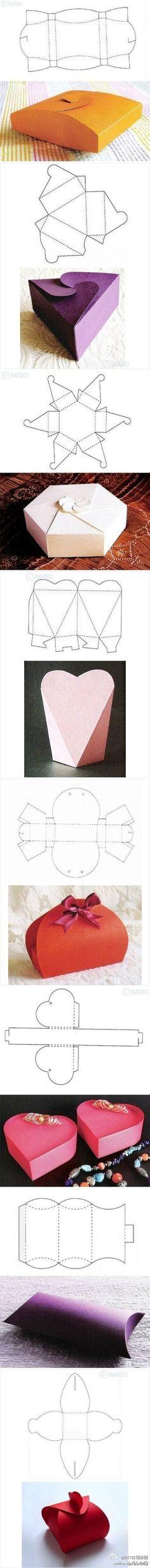 Des boîtes cadeaux de différentes formes (patrons à imprimer)