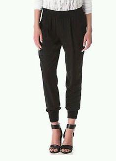 Vince 100% Silk Black Jogger Pants Size XS - Retail $295