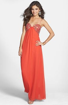 Hailey Logan Embellished Empire Waist Gown (Juniors) (Online Only) | Nordstrom