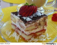 Jahodové tiramisu Czech Recipes, Ethnic Recipes, Czech Desserts, Tiramisu, Cheesecake, Sweets, Cookies, Bohemian, Cakes