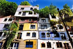 #Maison Hundertwasser house #architecture - if you are ever in Vienna, check this out - the inside is as crazy as the outside