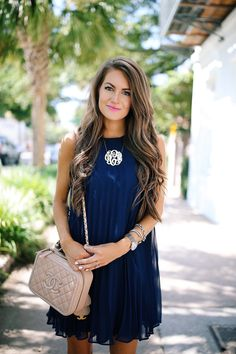 Southern Curls & Pearls: Pleated Dress in Charleston