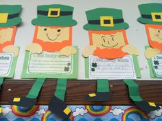 Surround St. Patrick's themed writing activities with this darling leprechaun template!