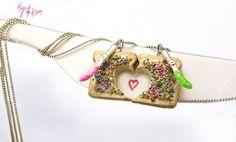 Friendship Necklaces Fairy Bread Necklaces by HugsKissesMINI, $30.00